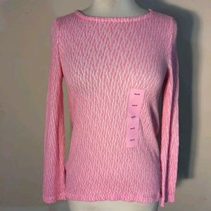 Nwt Chelsea & Theodore pink asymmetrical top